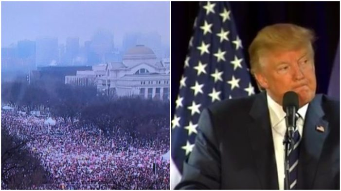 President Trump is very upset. According to anonymous White House aides, the women's march gave him bad media coverage, which is preventing him from enjoying the White House like he feels he deserves.