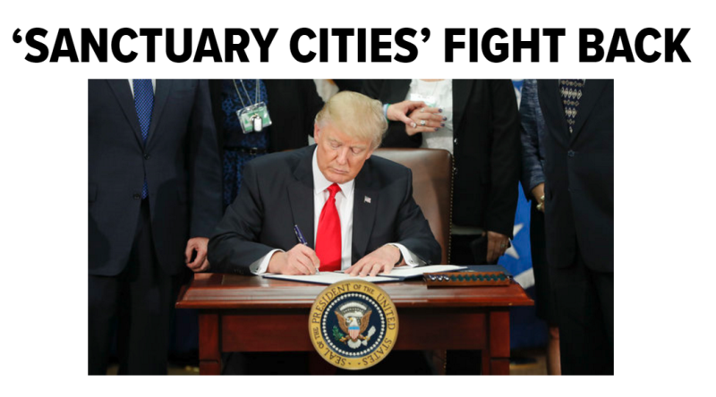 donald trump declared sanctuary cities theyre already fighting back