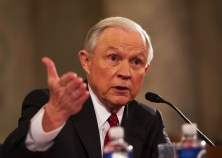 Sen. Jeff Sessions of Alabama testifies during his confirmation hearing to be attorney general before the Senate Judiciary Committee on Tuesday in Washington, D.C.