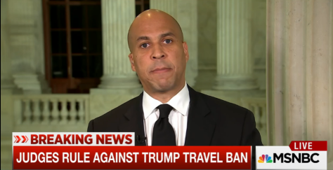 Senator Cory Booker, D-N.J., discusses the 9th Circuit Court of Appeals decision which effectively rejected the reinstatement of President Trump's travel ban.