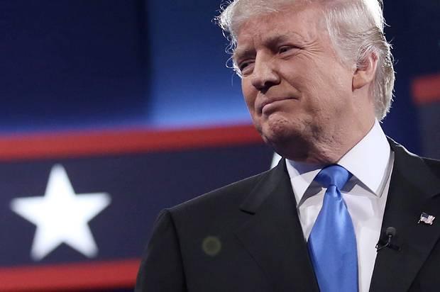 Donald Trump at the presidential debate in Hempstead, New York, September 26, 2016. (Credit: Reuters/Carlos Barria)