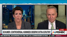 Senate Minority Leader Chuck Schumer talks with Rachel Maddow about the aspects of Jeff Sessions's record and disposition that disqualify him for the position of attorney general, and condemns his Republican colleagues for being afraid to stand up to Donald ...