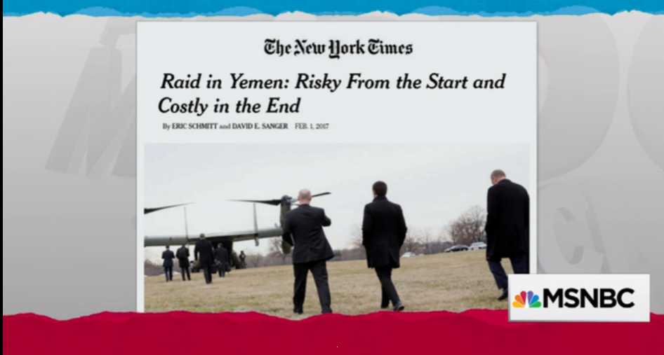 David Sanger, national security correspondent for the New York Times, talks with Rachel Maddow about the planning and unanticipated obstacles that befell Donald Trump's first ordered counter-terrorism raid in Yemen