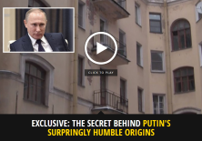 The Russian president grew up in a bedsit on the 'brutal', rat infested streets St Petersburg, then called Leningrad, and it's believed this is where he got his ruthless streak