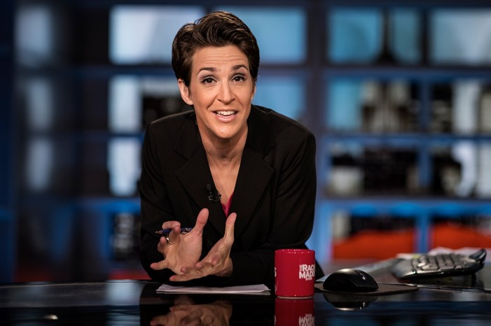Rachel Maddow's MSNBC show is growing so much so fast that she is drawing more viewers than broadcast television networks. Maddow recently finished in top ten among all networks and programs in her timeslot.
