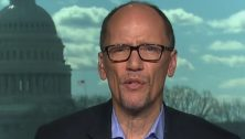 "New DNC Chair Tom Perez shows that he's on message, telling MSNBC Sessions should resign, ""The rule of law is the rule of law. Nobody is above the law."""